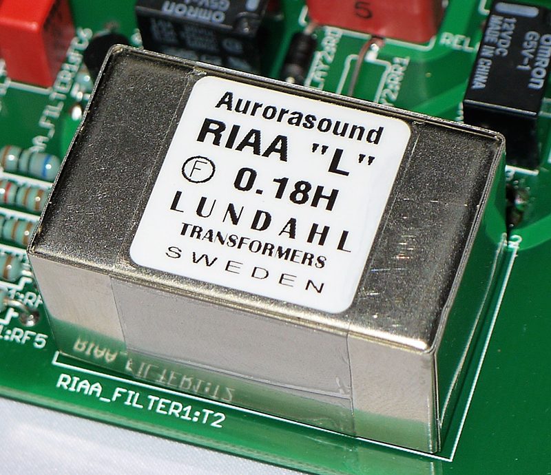 Customize RIAA choke transformer with Aurorasound logo